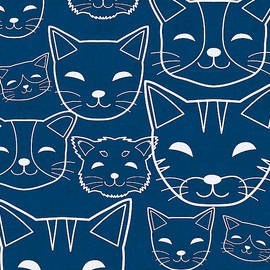 Cats- Art By Linda Woods by Linda Woods