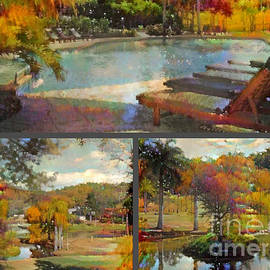 Cedar lakes Country Resort Collage #1 by Trudee Hunter