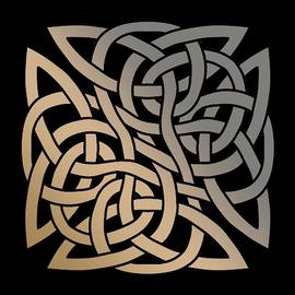 Celtic Shield Knot 8 by Joan Stratton