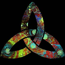Celtic Triquetra or Trinity Knot Symbol 1 by Joan Stratton