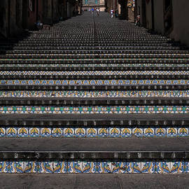 Centuries of ceramic art displayed on stunning Scalinata staircase, Caltagirone, Sicily, Italy by Terence Kerr