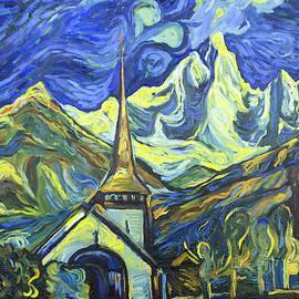 Chamonix. Les Praz Church by Nino Ponditerra