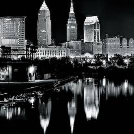 Charcoal Night View of Cleveland by Frozen in Time Fine Art Photography