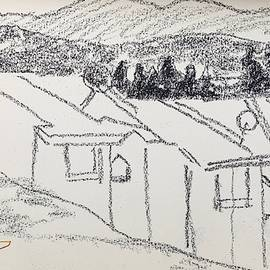 Charcoal Pencil Houses1.jpg by Suzanne Cerny