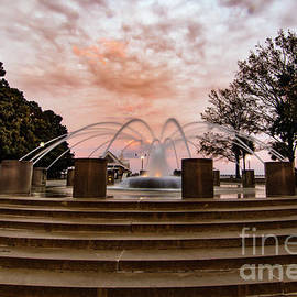 Charleston Sunset Fountain by Norma Brandsberg