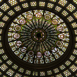 Chicago Cultural Center Tiffany Dome SQ Format by Thomas Woolworth