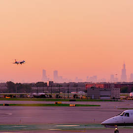 Chicago from O'Hare by Enzwell Designs
