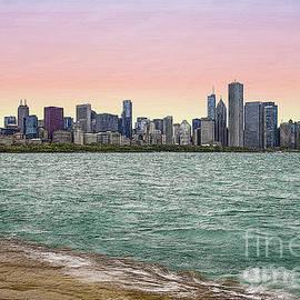 Chicago Skyline Painterly by Jennifer White