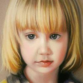 Child sadness in pastel