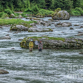 Chilkoot River Fishing by Robert Bales