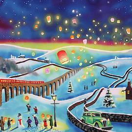 Gordon Bruce - Chinese lanterns winter painting