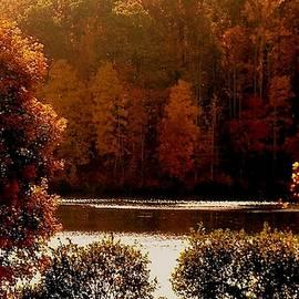 Chris Greene Lake in Autumn - 2018 by Arlane Crump