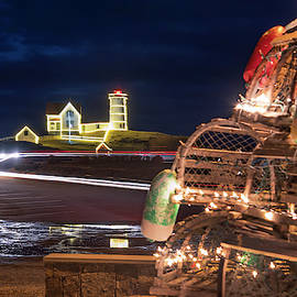 Joann Vitali - Christmas at Nubble Lighthouse