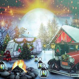 Christmas Camping Fairy Light by Debra and Dave Vanderlaan