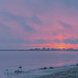 Christmas Eve Sunset Westport Point by Bill McEntee