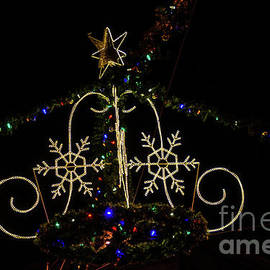 Christmas Lights At Night by Sue Smith
