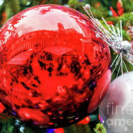 Christmas Market Reflections At Bryant Park In New York City by John Rizzuto