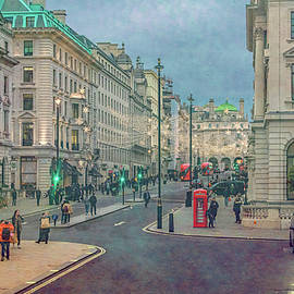 Christmas On The Streets of London by Marcy Wielfaert