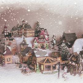 Christmas Village With Snow