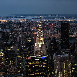 Chrysler Building Night by Sharon Popek