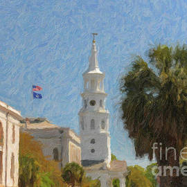 Church Bells Ringing In Downtown Charleston by Dale Powell