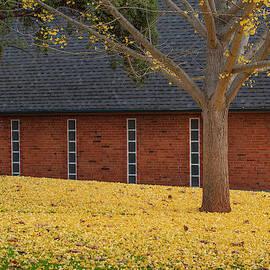 Church In Fall by Jonathan Hansen