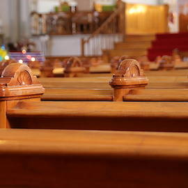Church Pews by Marlin and Laura Hum