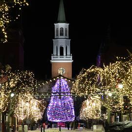 Church Street In Burlington Vermont by Jeff Folger