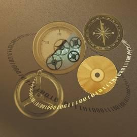 Circular Objects And Binary Code, Cg by Daj