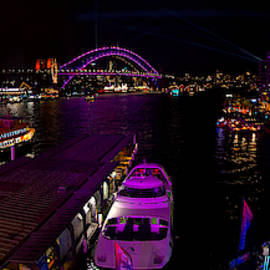 Circular Quay in purple by Andrei SKY