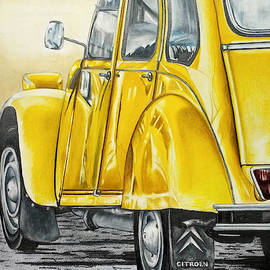 Citroen 2cv Amarillo by Nicky Chiarello