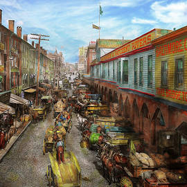 City - Baltimore MD - Traffic on light street - 1906 by Mike Savad