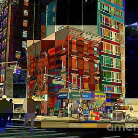 City Corner No. 3 - New York City Street Scene by Miriam Danar