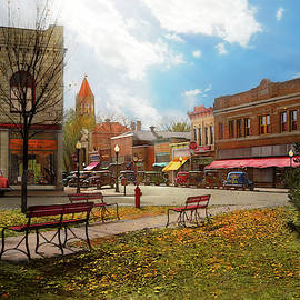 City - Marengo IA - The final leaves of Autumn 1939 by Mike Savad