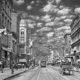 Mike Savad - City - NY - Main Street Poughkeepsie, NY - 1906 - Black and White