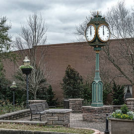 City Of Brewton Clock by Sharon Popek