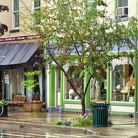 City - Owego Ny - On A Rainy Day by Mike Savad
