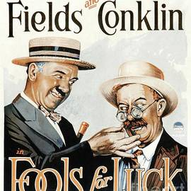 Classic Movie Poster - Fools For Luck by Esoterica Art Agency