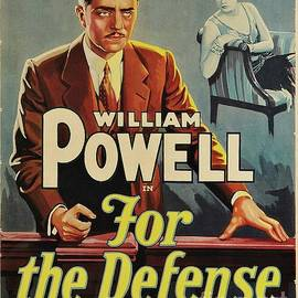 Classic Movie Poster - For the Defense by Esoterica Art Agency