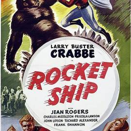 Classic Movie Poster - Rocket Ship by Esoterica Art Agency