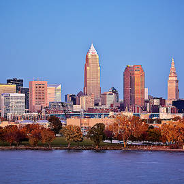 Cleveland At Blue Hour by Marcia Colelli