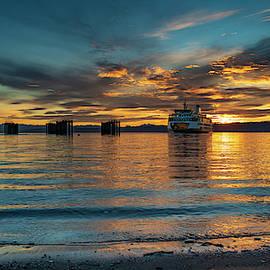 Clinton Ferry Sunrise by Bob VonDrachek