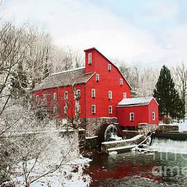 Regina Geoghan - Clinton Red Mill in Winter Snow