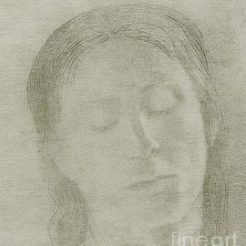 Closed Eyes, 1890 by Odilon Redon by Odilon Redon