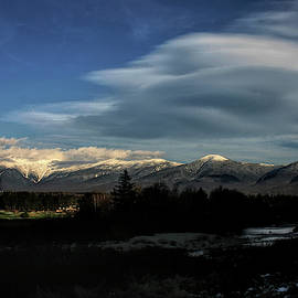 Cloud Lens Over The Presidential Range by Wayne King