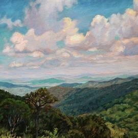 Cloud Shadows Dancing - Summertime View Skyline Drive by Bonnie Mason