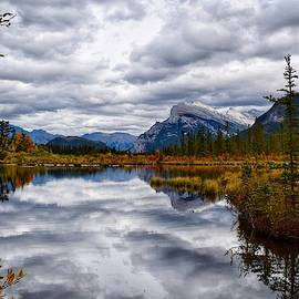 Cloudy Day at Vermilion Lakes by Dana Hardy