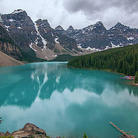 Cloudy Moraine Reflection by Jamie Showalter