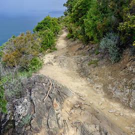 Coastal Trail To Levanto Cinque Terre Italy by Joan Carroll