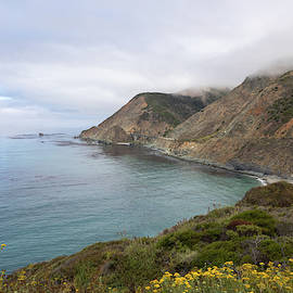 Coastal View of Big Creek Bridge - Big Sur by TL Wilson Photography by Teresa Wilson